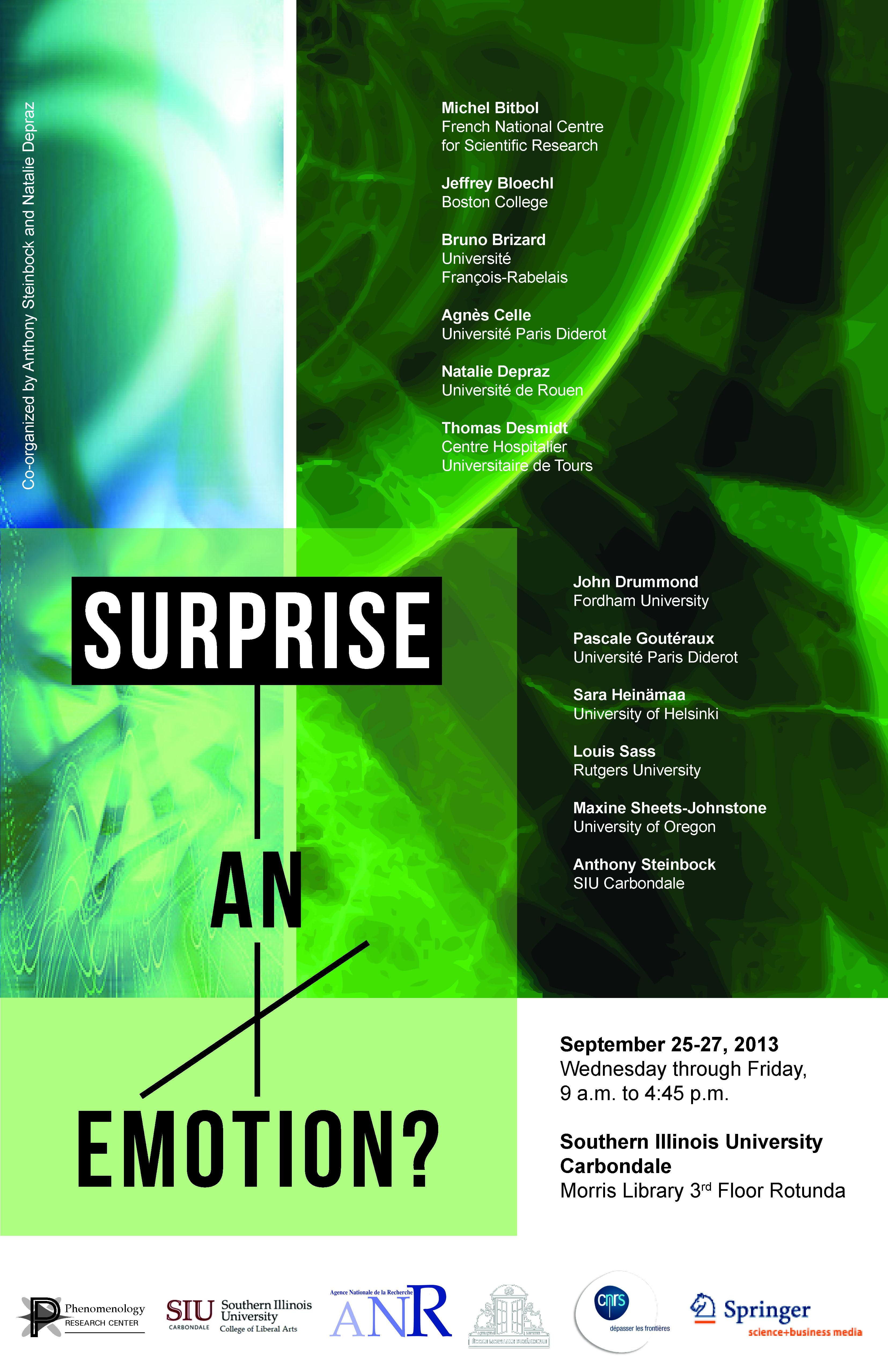 "Surprise an emotion "" conference at siu carbondale sept 25 27"