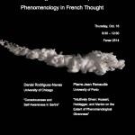 "Colloquium at the PRC: ""Phenomenology in French Thought"""