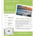 Schedule: Religious Experience Online Seminars